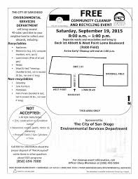 community cleanup and recycling event in ob sat sept 19th