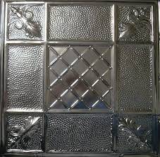 5 pcs of tin ceiling tiles 114 unfinished nail up