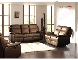 canapé cuir ub design fiona 2 places relax brun pas cher ubaldi com