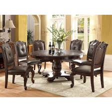 alexandria round dining table 4 side chairs 2150t dining