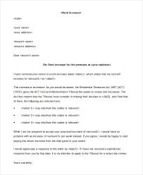 Sample Rent Increase Letter 5 Free Sample Example Format