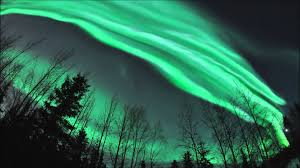Dance and break up of northern lights over Fairbanks Alaska