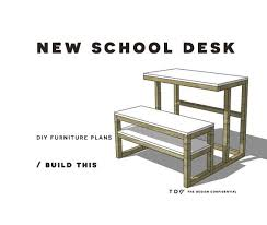 free diy furniture plans how to build a new desk with