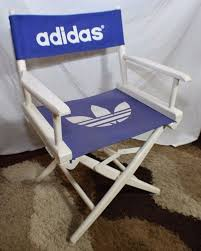 VINTAGE ADIDAS WHITE WOODEN FOLDING DIRECTORS CHAIR CANVAS STORE ... Amazoncom Easy Directors Chair Canvas Tall Seat Black Wood Folding Wooden Garden Fniture Out China Factory Good Quality Lweight Director Vintage Chairs With Mercury Outboard Acacia Natural Kitchen Zccdyy Solid High Charles Bentley Fsc Pair Of Foldable Buydirect4u Aland Departments Diy At Bq Stock Photo Picture And Royalty Bar Stools A With Frame For Rent