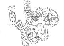 Free Printable Love Coloring Pages For Adults