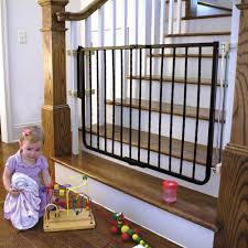 summer infant top of stairs simple to secure metal gate white