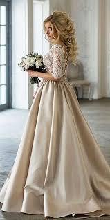 Vintage Gold Wedding Dresses