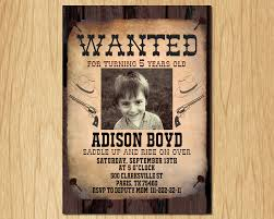 Old Wanted Poster Cowboy Birthday Invitation Wild West Free
