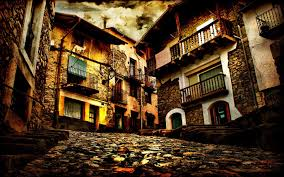 Cityscapes Old Roads Hdr Photography House Wallpaper 1920x1200