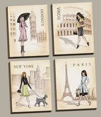 Paris Themed Bathroom Accessories by Amazon Com Paris London Roma And New York Set By Andrea