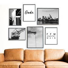 frankfurt bilder 6er poster set für dein wohnzimmer 4one