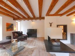 ein gemütliches wohnzimmer mit einem modernen kamin und