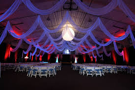 Custom Event Draping In White Chiffon By W Drapings For A Wedding Reception Sporting