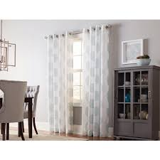 Crushed Voile Curtains Grommet by Shop Allen Roth Cressmar 84 In Mineral Polyester Grommet Sheer
