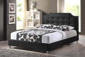 Black Leather Headboard Queen by Carlotta Black Modern Bed With Upholstered Headboard Queen Size