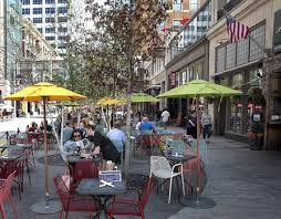 Nicollet Mall Sidewalk Cafes Include Tables Outside The Local Barrio And Randles Between 9th