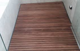 Image Of Teak Bathroom Flooring