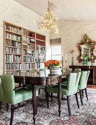 Bookshelves In Dining Room