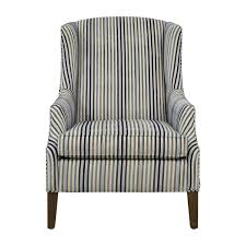 84% OFF - Ethan Allen Ethan Allen Custom Upholstered Striped Accent ...