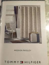Tommy Hilfiger Curtains Mission Paisley by Nicole Miller Home 4 Appetizer Snack Plates White Gold Striped Nwt