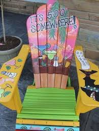Custom Painted Margaritaville Adirondack Chairs by Jimmy Buffett Themed Adirondack Chair Hand Painted With