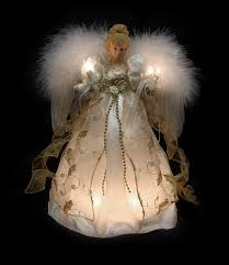 Astonishing Lighted Christmas Angel Tree Topper Toppers Small