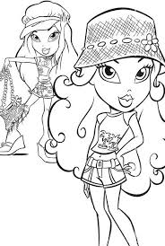 Bratz Coloring Pages For Girls Fashion