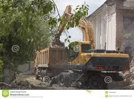 Loading Of Construction Debris After Demolition Of A Building Stock ...