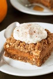 Pumpkin Pie With Gingersnap Crust Gluten Free by Gluten Free Pumpkin Pie Streusel Bars My Baking Addiction