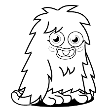 Cute Monster Coloring Pages For Kids