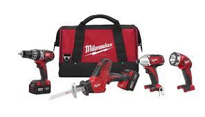 Milwaukee 2695 24 M18 18V Cordless 4 Tool bo Kit 2695 24