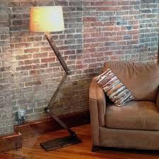 Floor Lamp Rustic Zig Zag Industrial Lighting Accent Urban