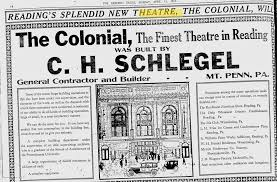 China Moon Sinking Spring Pa by Colonial Theatre Opening Reading Png