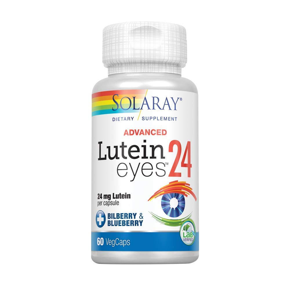 Solaray Lutein Eyes Advanced 24mg Dietary Supplement - 60 Capsules
