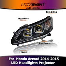 novsight car led headlight projector drl fog light turn signal for