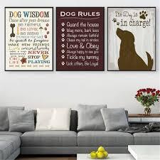 poster vintage ich liebe meinen hund weisheit leinwand bilder fur wohnzimmer wohnkultur hangen wandkunst zitate drop verschiffen