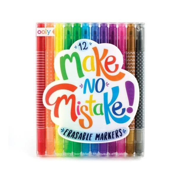Ooly Make No Mistake Erasable Markers (Set of 12)