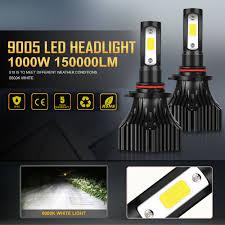 cob 9005 hb3 led headlight kit light bulbs high beam 6500k 1000w