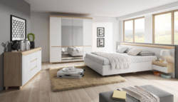 schlafzimmer komplett set c bizerte 5 teilig farbe buche weiß