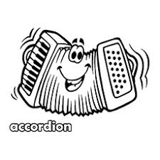 An Accordion In Action Coloring Page To Print