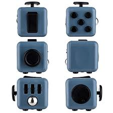 Omaky Fidget Cube Relieves Stress And Anxiety For Children Adults Attention Toy Blue Black