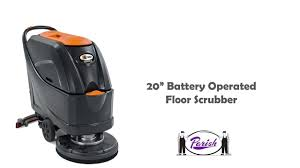 Tennant Floor Machine Batteries fang 20b1 battery operated automatic floor scrubber youtube