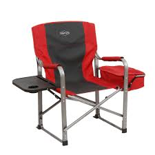 Details About Kamp-Rite Outdoor Camp Folding Director's Chair With Side  Table & Cooler, Red China Camping Cooler Chair Deluxe Tall Director W Side Table And Cup Holder Chairs Outdoor Folding Lweight Pnic Heavy Duty Directors With By Pacific Imports Side Table Outdoor Folding Chair Rkwttllegecom Coleman Oversized Quad Kamprite With Tables Timber Ridge Additional Bag Detachable Breathable Back For Portable Supports 300lbs Laurel 300 Lb Capacity Flips Up Kingcamp Kc3977 10 Stylish Light Weight