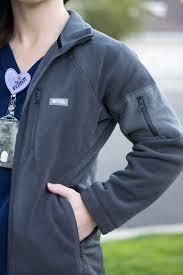 Ceil Blue Scrubs Womens by Figs Fleece Jacket Vest U0026 Tee Review Soft Shorts Scrub Life
