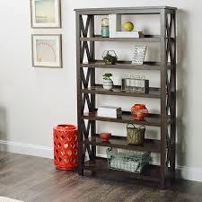 Threshold Campaign Desk Dimensions by Verona Two Shelf Bookshelf World Market
