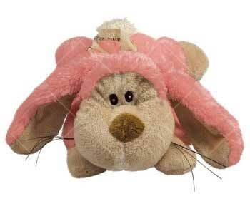 Kong Cozie Squeaker Floppy The Rabbit Dog Toy - Pink, Medium
