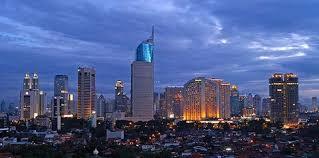 Jakarta Night Skyline Indonesia