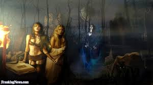 The Witches Coven At Night