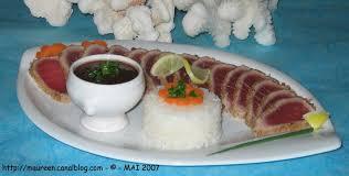 cuisine tahitienne mi cuit de filet de thon en habit de coco maureen et ses