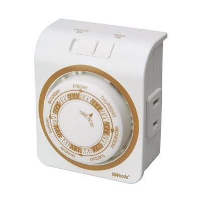 Woods Indoor Mechanical Timer - 7 Day